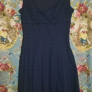 Ralph Lauren Navy Blue Eyelet Dress, Size 6